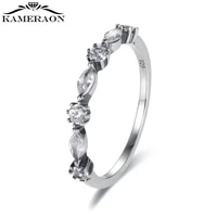 s925 sterling silver retro zircon rings spacer stones irregular personalized fashion jewelry 2021 engagement rings for women new