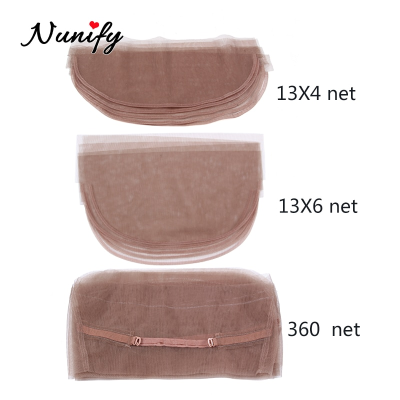 Nunify 13*4 13*6 360 Lace Net Basement Foundation For Making Closure Wigs Making Lace Closure Frontal Brown Swiss Lace Wig Caps