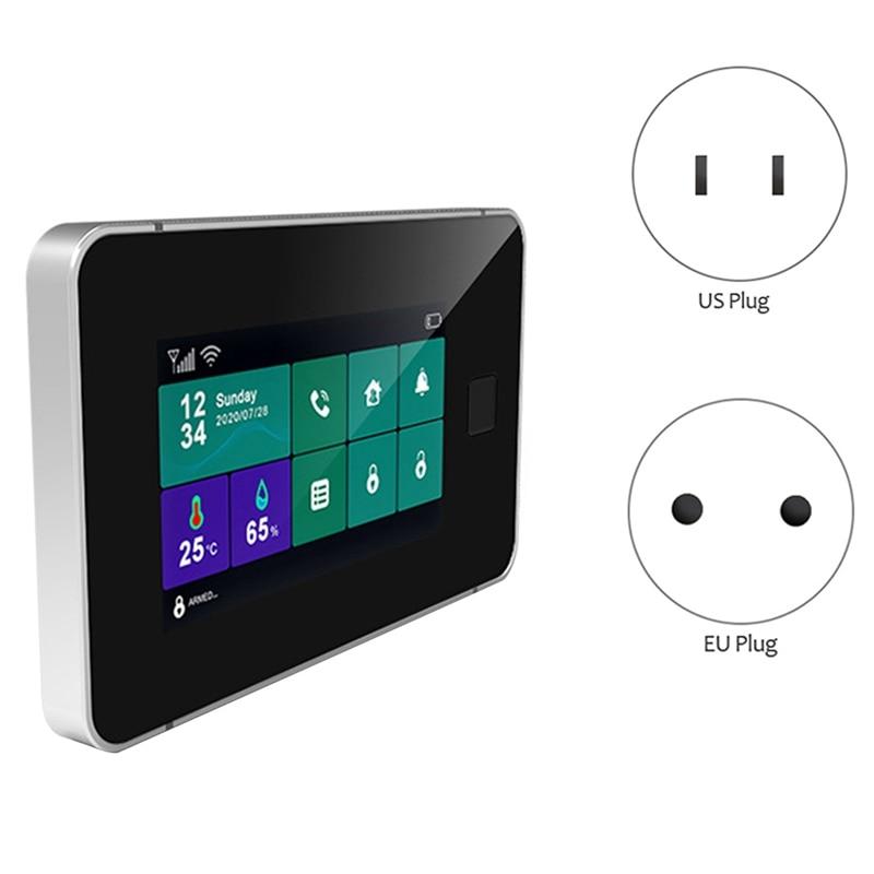 MOOL Tuya-نظام إنذار أمان wi-fi ، Gsm ، مع تعزيز بصمات الأصابع ، إنذار ضد السرقة ، للمنزل المتصل