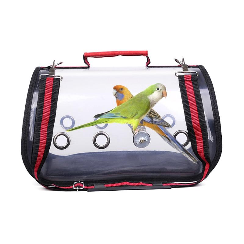 Bolsa de transporte al aire libre para pájaros, bolso transparente transpirable para loros, jaula de viaje para pájaros, mochila de viaje para loros y Mascotas