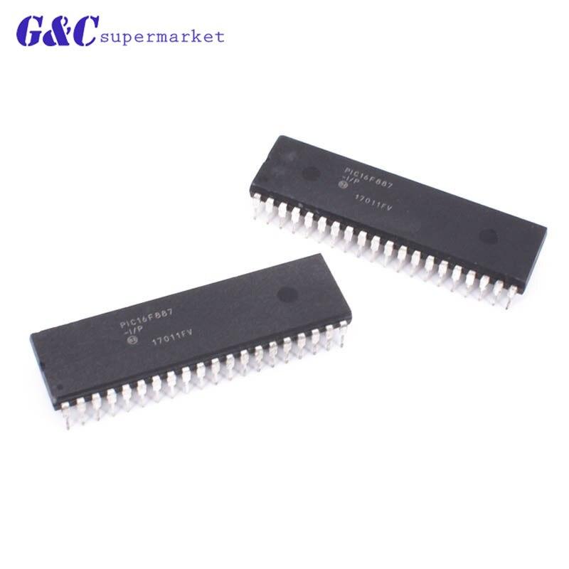 1 Uds PIC16F887-I/P PIC16F887 DIP-40 nuevo IC en stock diy electrónica