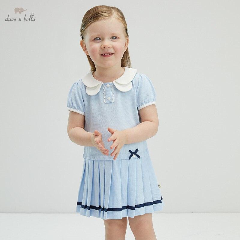 """DBJ17563 нижнее белье в стиле бренда dave bella/летние платья для маленьких девочек милое платье с бантом в полоску с драпировкой; Модное детское платье; Вечерние платья для маленьких детей в стиле """"Лолита"""", одежда Платья для девочек    АлиЭкспресс"""