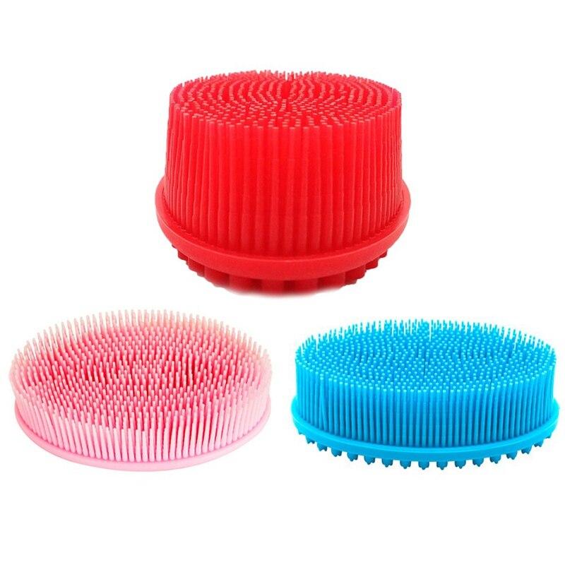 Silikon Kopfhaut Dusche Massage Bürste Bad Pinsel Weiche Körper Massager Waschen Kamm Körper Dusche Bad Spa Shampoo Pinsel