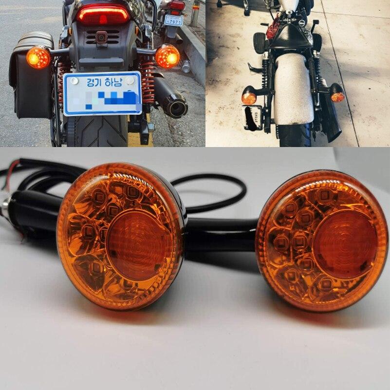 إشارة انعطاف LED للدراجات النارية ، مصابيح خلفية LED ، محرك كهرماني ، مؤشر إشارة الانعطاف لـ Sportster 883 Iron XL1200 1992-UP ، 2 قطعة