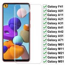 Vetro temperato HD 9H per Samsung Galaxy F41 A42 M51 M31 M21 M11 M01 pellicola protettiva per schermo A01 A11 A21 A31 A41 A51 A71 pellicola protettiva