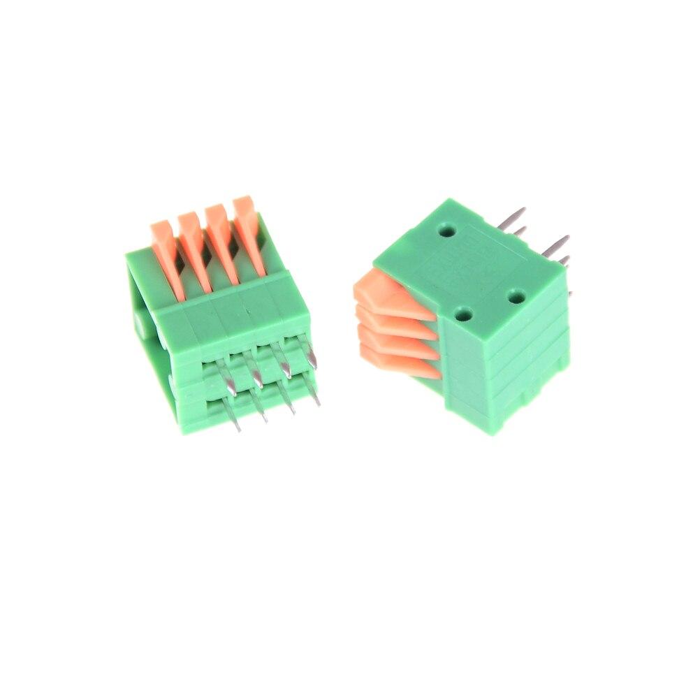 Bornier vert KF141R KF141R KF141V connecteurs pied droit PCB 2/3/4/5/6/7/8/9/10P   Sans ressort, 2.54mm
