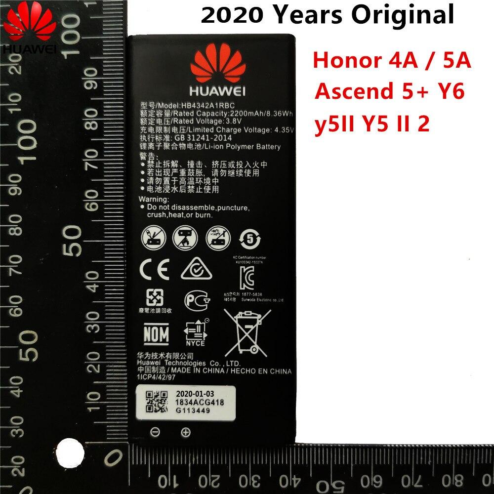 Hua Wei de reemplazo de batería del teléfono HB4342A1RBC para Huawei y5II Y5 II 2 Ascend 5 + Y6 honor 4A SCL-TL00 honor 5A LYO-L21 2200mAh