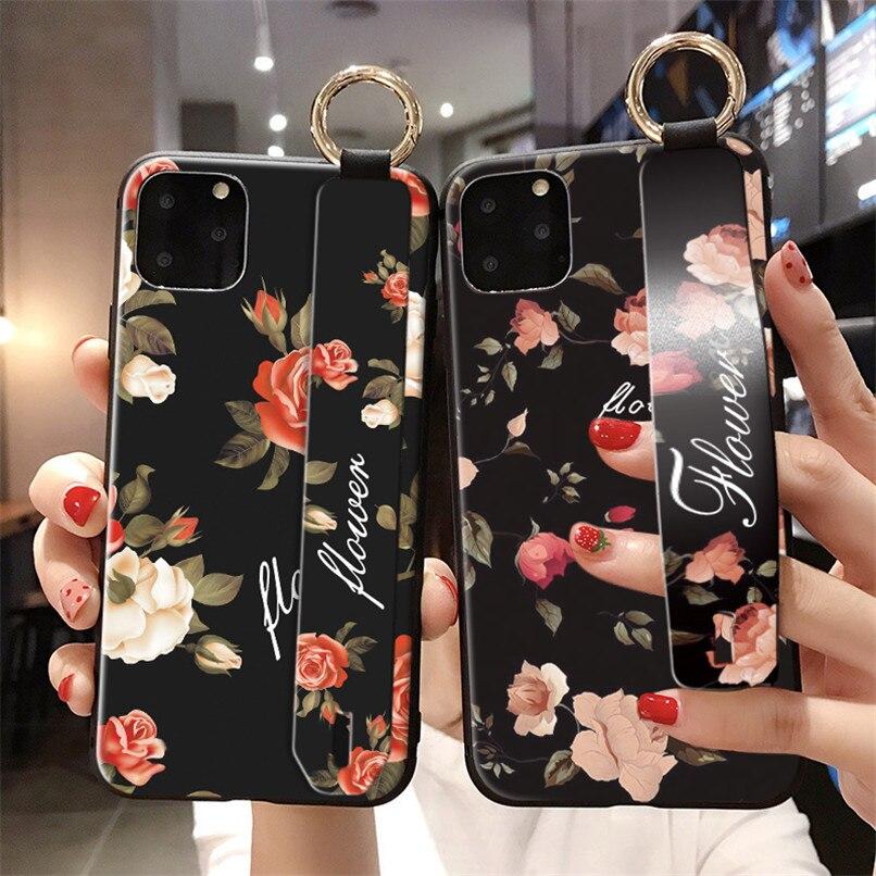 Vintage flor caso para iPhone 7 Plus cubierta mate Funda canal para iPhone 11 Pro Max XR X XS X Max 8 Plus 6S 6 Plus caso