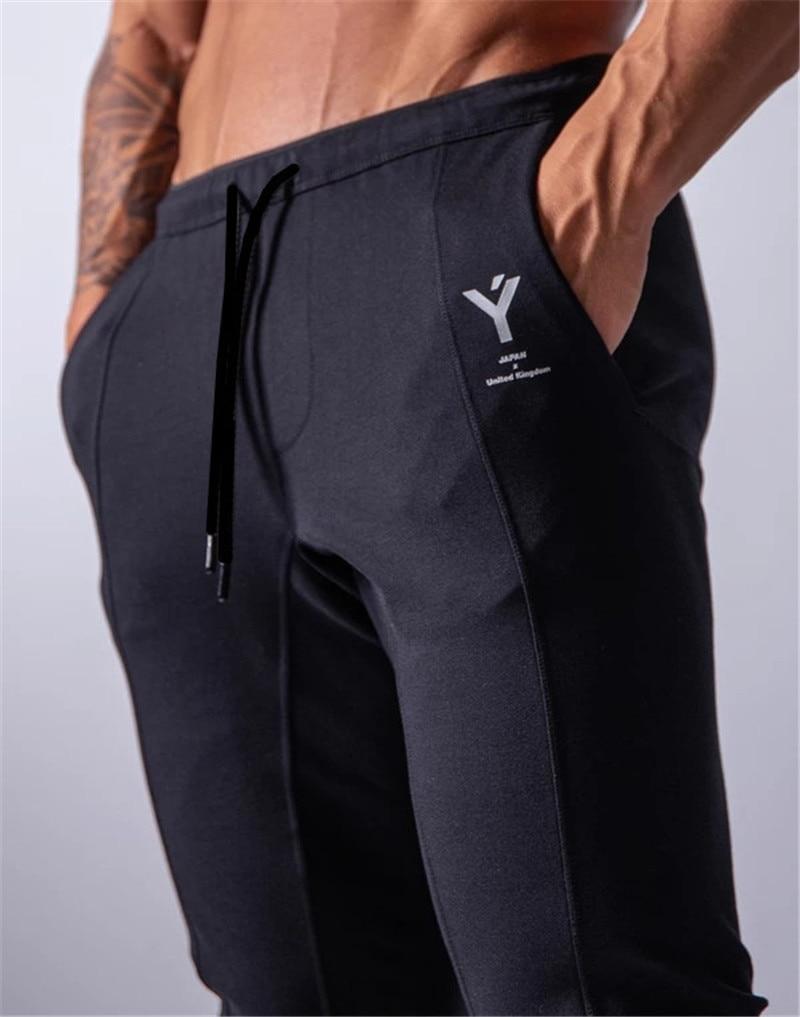 Новые спортивные штаны для бега, мужские спортивные штаны, штаны для бега, штаны для тренажерного зала, мужские джоггеры, хлопковые трениров...
