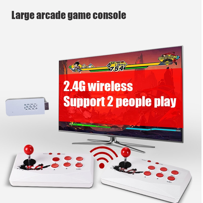 Wireless Arcade Video Game Console TF Card Extend Can Add Game HDMI-compatible Double Controller Game Player Built-in 1788 Games