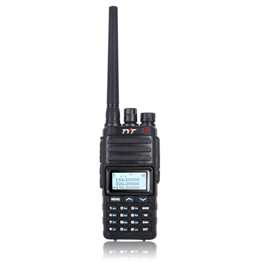 Sobre las WALKIE TALKIE UHF, VHF TH-350 TRI banda 136-174 MHz, 220-260MHz 400-470MHz portátil dos radio codificador Roger transceptor FM
