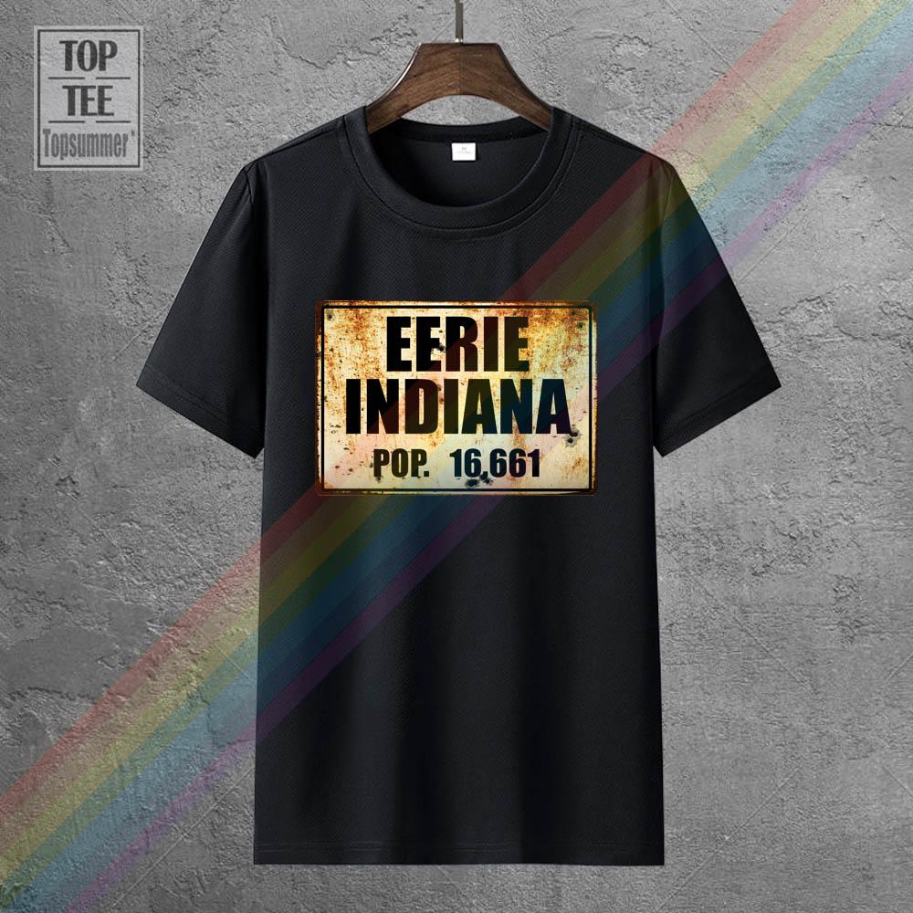 Жуткий, Индиана, футболка с длинными рукавами, стиль ретро; Готический стиль; Стиль футболка Забавный Модный свитшот эстетическое футболки ...