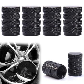 4Pcs Black Durable Aluminum Cover Tire car Wheel Rims Stem Air Valve Caps Replacement for Car Truck Auto Parts TXTB1