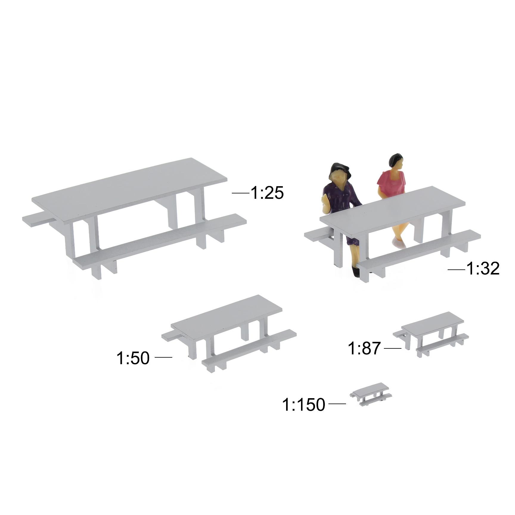 5 шт./10 шт. модель поезд G O HO N масштаб серый Модель стол стул кемпинг открытый стол скамейка набор Модель Пейзаж
