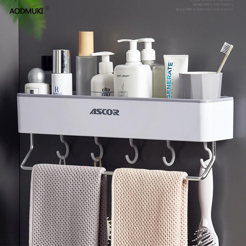 Estantes ahorradores de espacio, accesorios de almacenamiento, organizador, estante de cocina, baño doméstico, secador de pelo Tassimo, conjunto de maquillaje montado en la pared