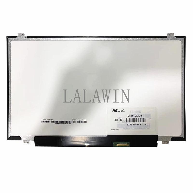 LTN140AT30 صالح LTN140AT30-L01 NT140WHM-N41 N31 B140XTN02.A HB140WX1-301 401 501 601 Laptop LCD Screen 1366*768 EDP 30 دبابيس
