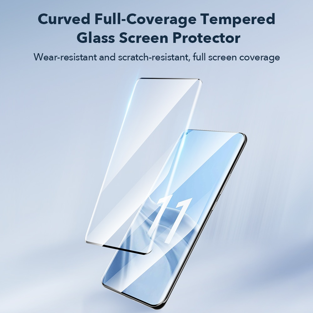 ESR Tempered Glass for 2021 Xiaomi 11/10/9/8 11 Pro 8 SE Anti Bluy-Ray Glass Full Cover Screen Soft TPU Film for Mi 11 10 9 enlarge