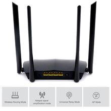 Wifi yönlendirici Gigabit sürüm 2.4GHz 5GHz WiFi 1200Mbps 300Mbps ile 4 * 6dBi yüksek kazançlı antenler çok dil Firmware