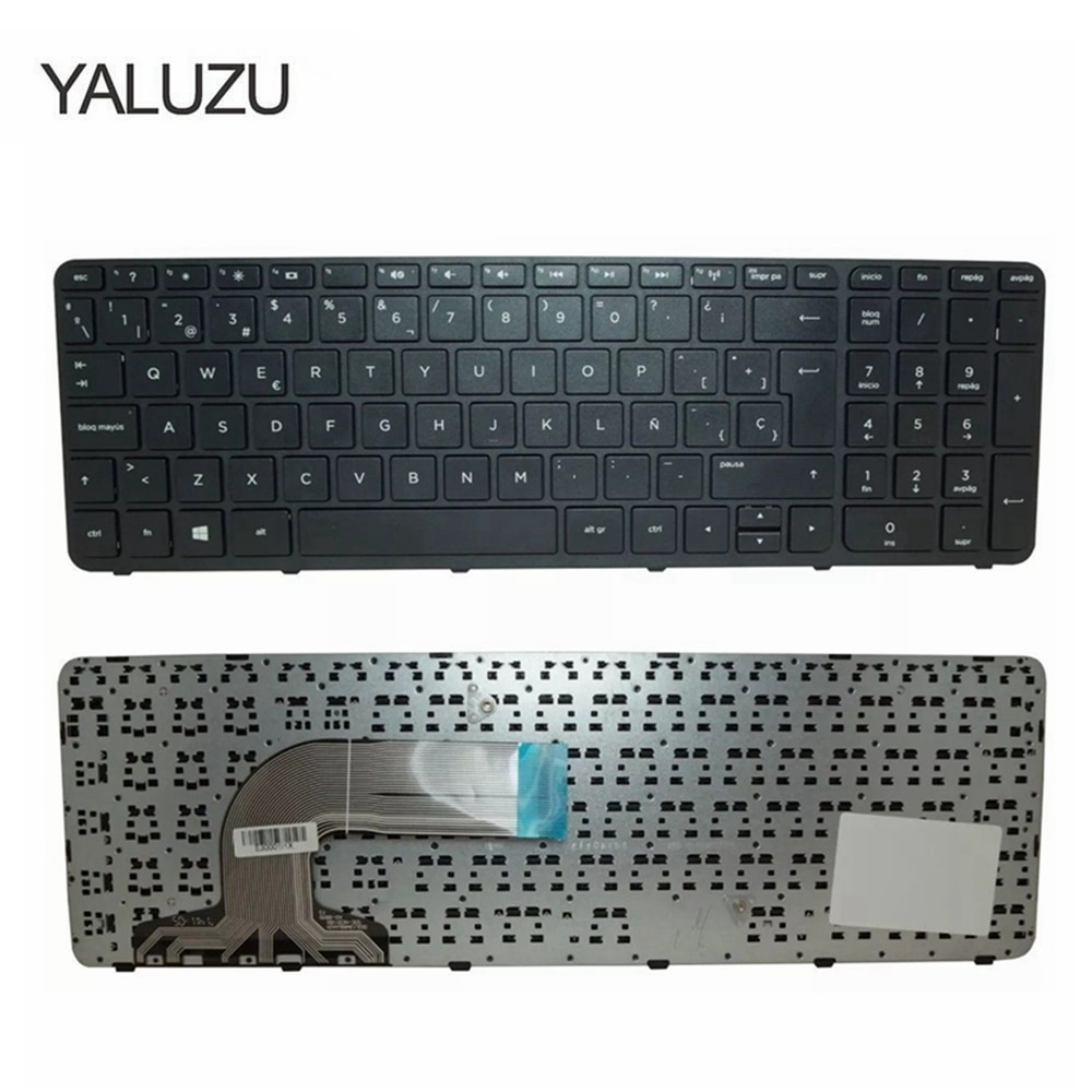 YALUZU Spanish Laptop Keyboard For HP Pavilion 15-g000 15-r000 15-g 15-r 250 G3 255 G3 256 G3 15-r007nc 15-r008nc with Frame