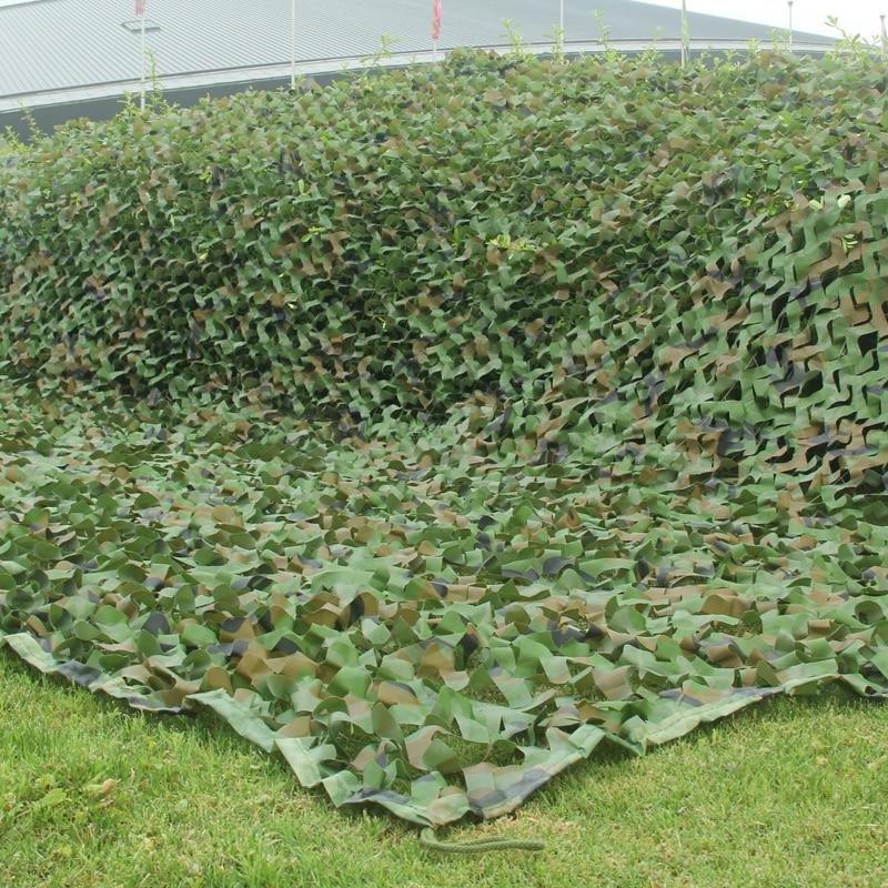 1,5x6m/2x 5m/2x 6m/5x3m Camping camuflaje red ejército selva de bosque camuflaje redes de caza refugio para el sol
