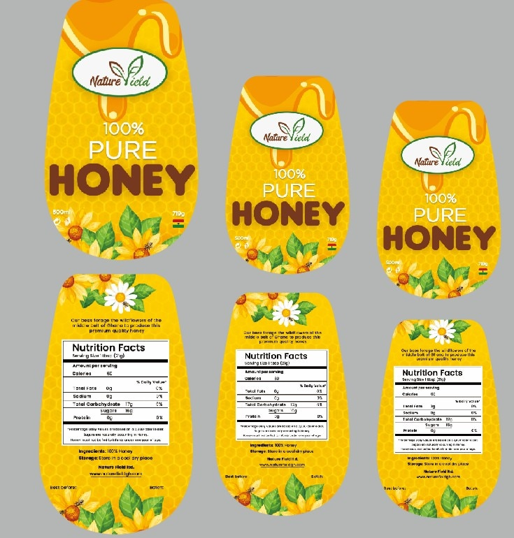 Garrafa de armazenamento de mel salada squeeze garrafa ketchup armazenamento jar auto-adesivo papel gravura logotipo personalizado