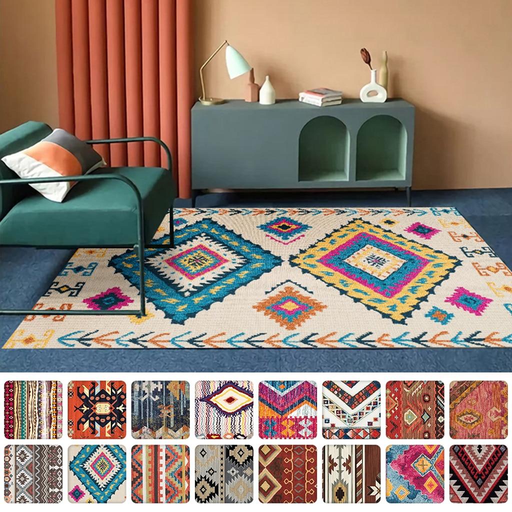 المغرب نمط غرفة المعيشة عدم الانزلاق السجاد المنزل Tapete الديكور غرفة نوم الطابق حصيرة منطقة السجاد كبيرة