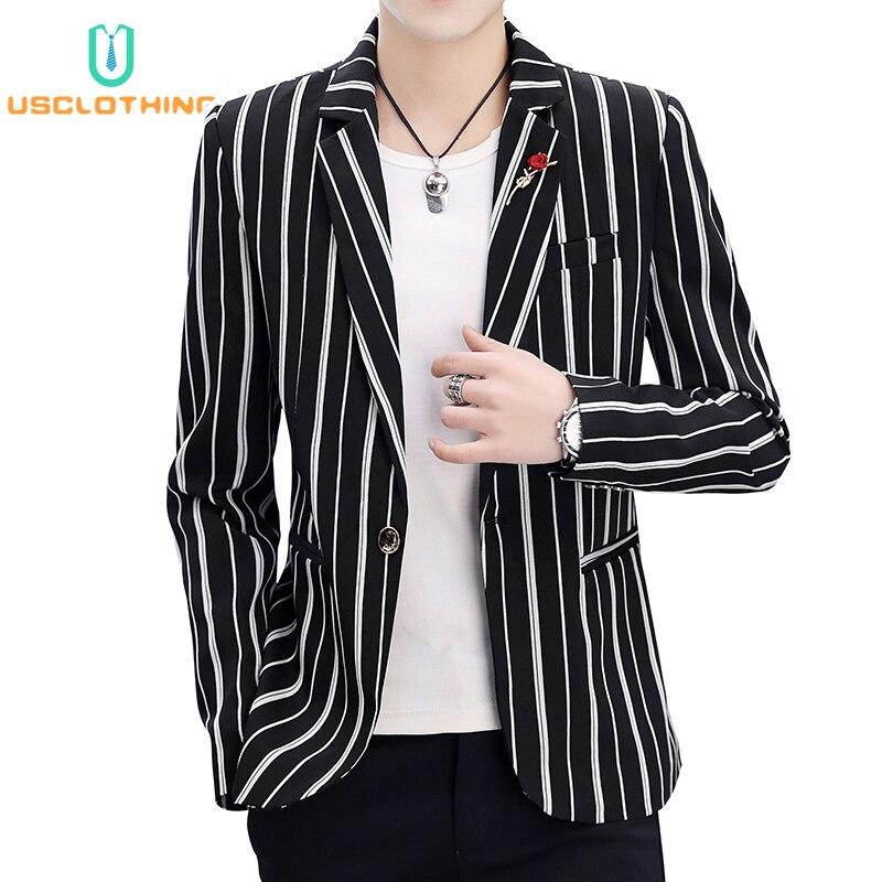Мужской Блейзер, куртки, модные полосатые приталенные повседневные блейзеры, куртки, костюмы, куртки, пальто, деловой костюм для мужчин, Casaco ...