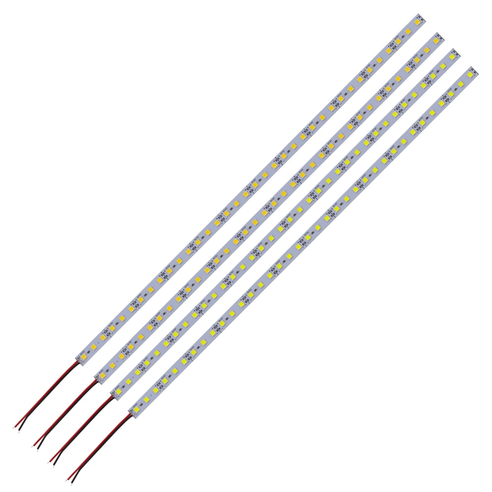DC12V 5pcs 10pcs 20pcs LED Aluminum Bar Light Rigid Strip Led Light 25cm 50cm 5054 Cabinet Counter L