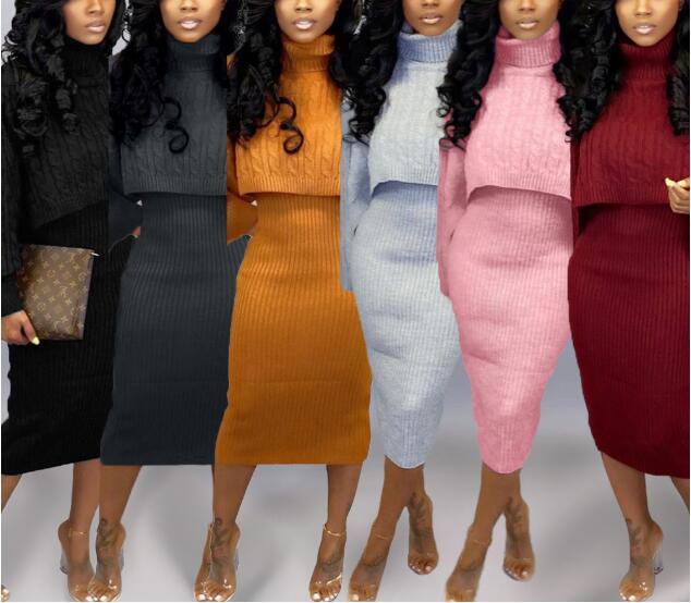 الياقة المدورة الموضة المتضخم سترة ملابس الشتاء النساء النيون الأخضر الوردي البرتقالي البلوز السيدات متماسكة القمم