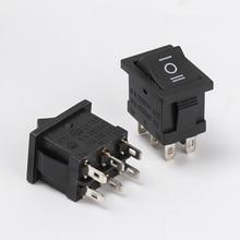 5 pièces bouton poussoir 10x15mm SPST 2/3/6Pin 3A 250V KCD11 encliquetable interrupteur à bascule noir interrupteur électrique équipement électrique