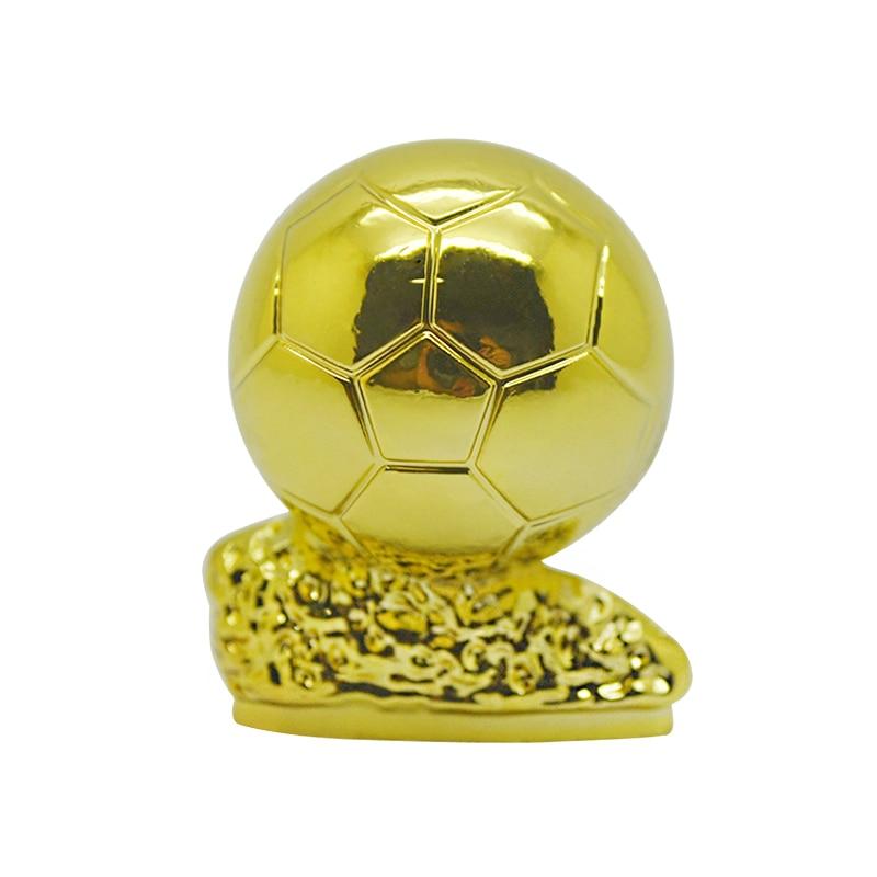 Pequeño balón trofeo de oro modelo 3cm de altura taza de Metal recuerdos para fanáticos coleccionables regalo