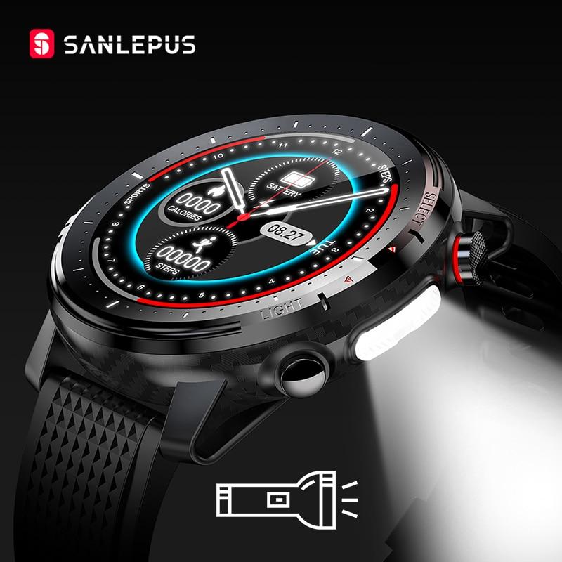 جديد لعام 2021 ساعة ذكية من SANLEPUS ساعة IP68 مقاومة للماء ساعة ذكية رياضية للياقة البدنية للرجال والنساء سوار ساعة يد لهواتف أبل وهواوي SW155