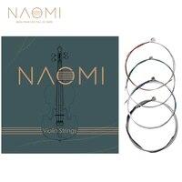 naomi full set violin strings 44 34 12 14 18 violin strings g d a e strings stainless steel core violin strings