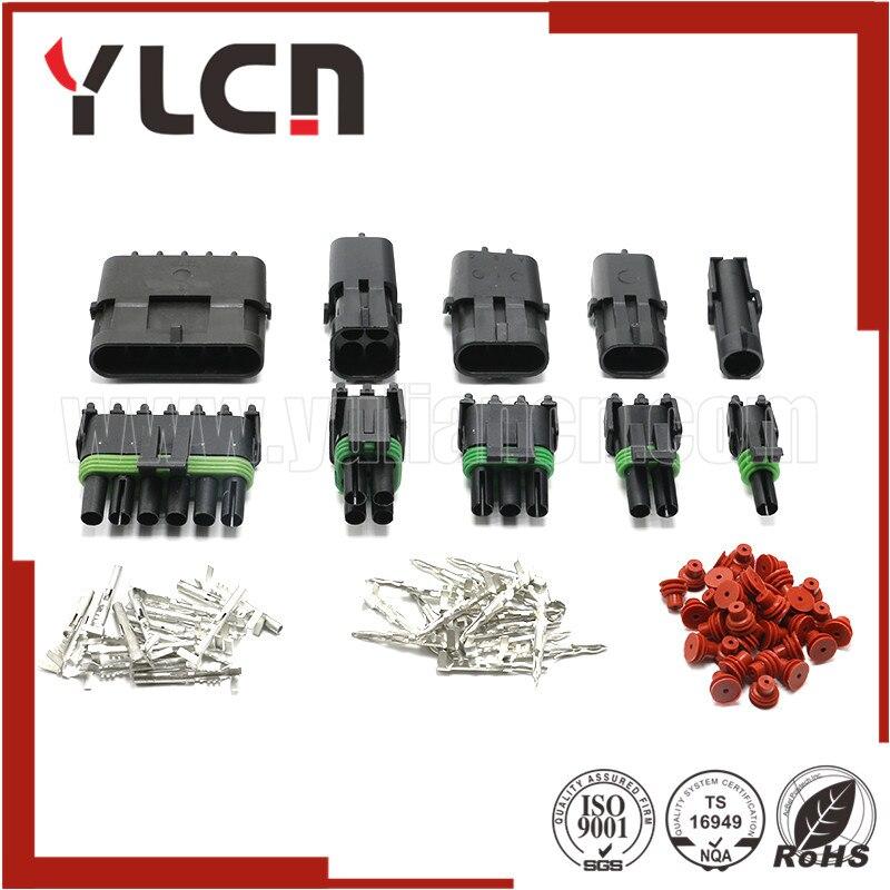 50 juegos de enchufes de conector automático de alta calidad Delphi 4/6 Series conectores 1/2/3/2,5 pines