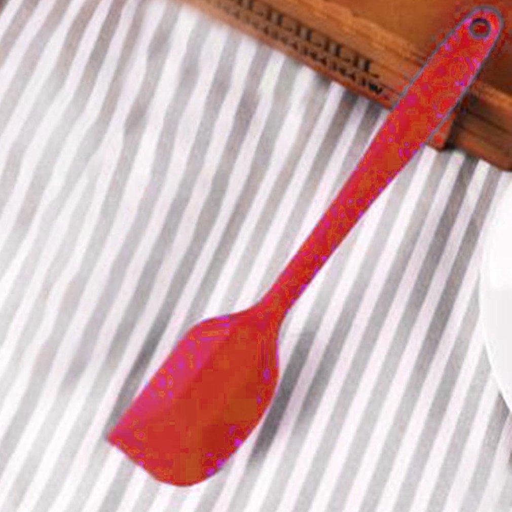 La cocina de silicona espátula para crema, mantequilla y tartas espátula para mezclar masa pincel mezclador de mantequilla cepillo para torta herramienta para hornear
