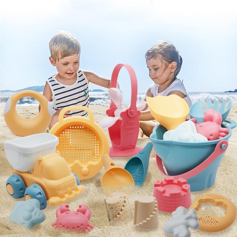Baby Beach Toys Kids Summer  Beach Game Toys Children Sandbox Set Kit Toys For Beach Play Sand Bathroom Water Game Play Cart