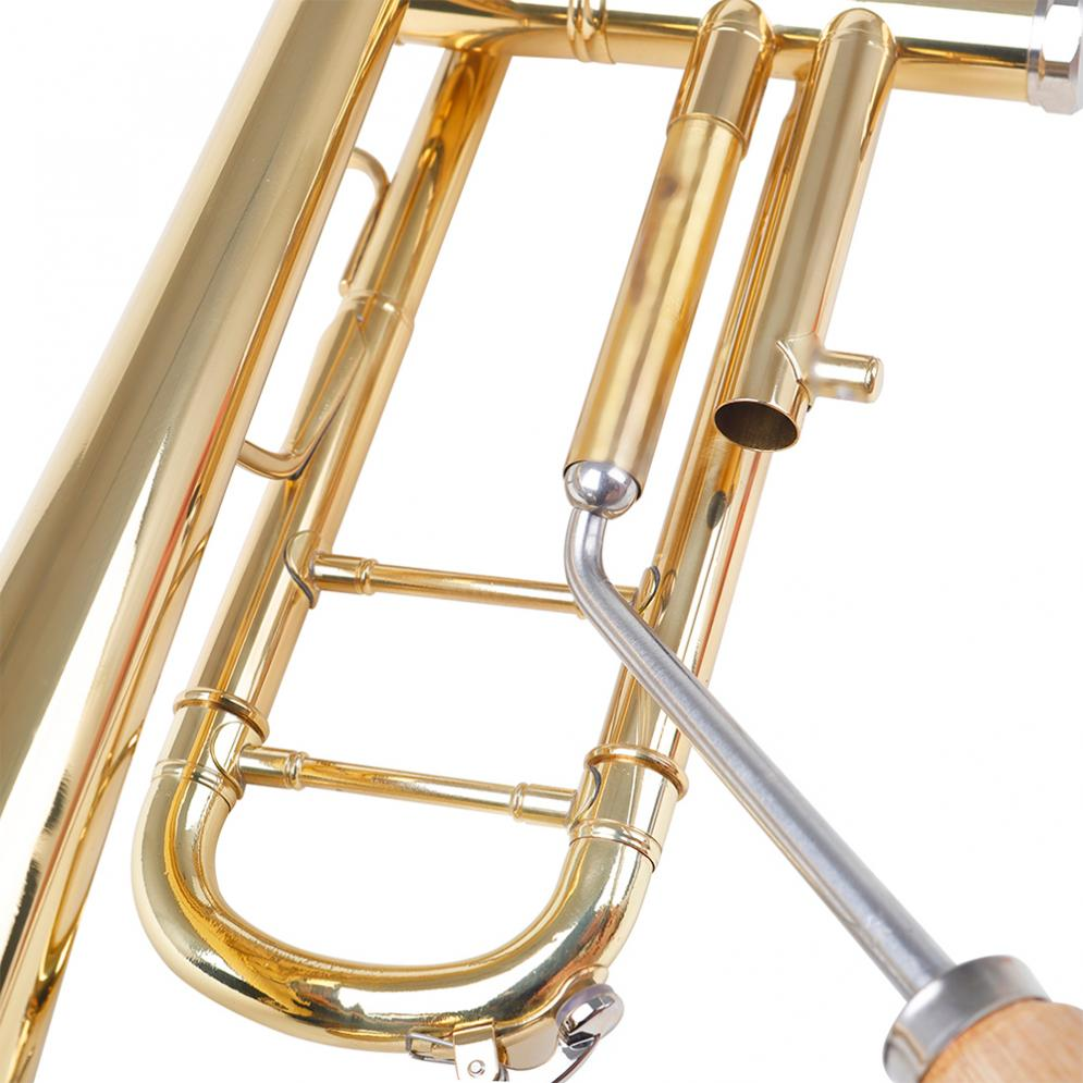 Trumpet Elbow Repair Tool French Horn Maintenance Care Wrench with Solid Wood Comfortable Handle Trumpet Accessories enlarge