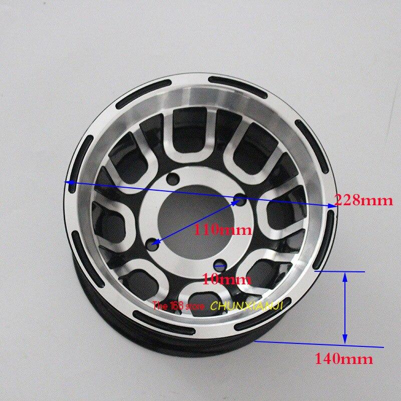 Cubo de rueda de 8 pulgadas, llantas de aluminio para ATV, neumático use19X7.00-8 20x7-8 21x7-8, llantas de vacío aptas para Go-kart, motocicleta de cuatro ruedas