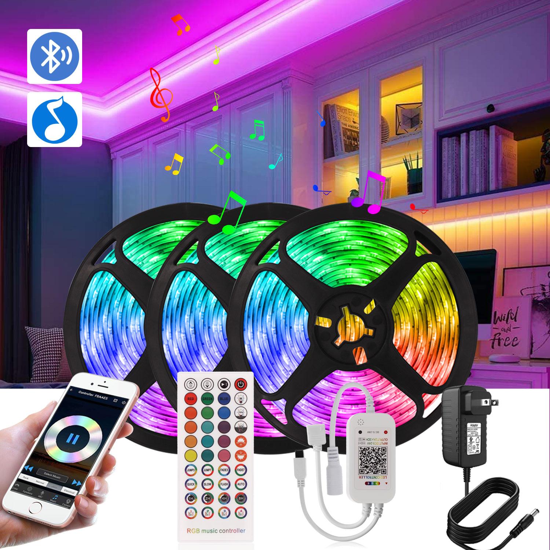100ft 30M Slimme Led Strip Licht Kit Met Bluetooth App Afstandsbediening, ultra Lange Rgb 5050 Led Licht Voor Slaapkamer Keuken Thuis Decoratie LED-strips    -