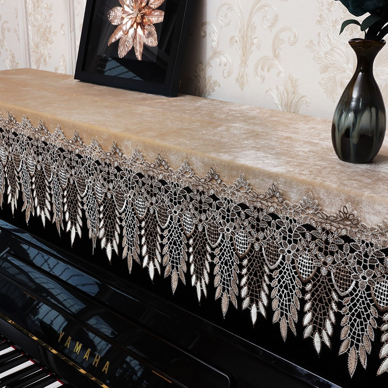 Capa de Escritório em Casa Instrumento de Piano Alto-grau Vertical Piano Decoração Topo Drapeado Antiaderente Capa Presente