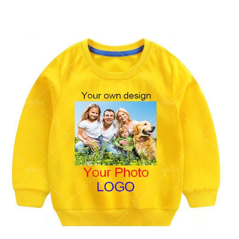 Детские толстовки с надписью на заказ, футболка, детские толстовки, одежда для малышей, спортивная одежда для мальчиков и девочек, пуловер