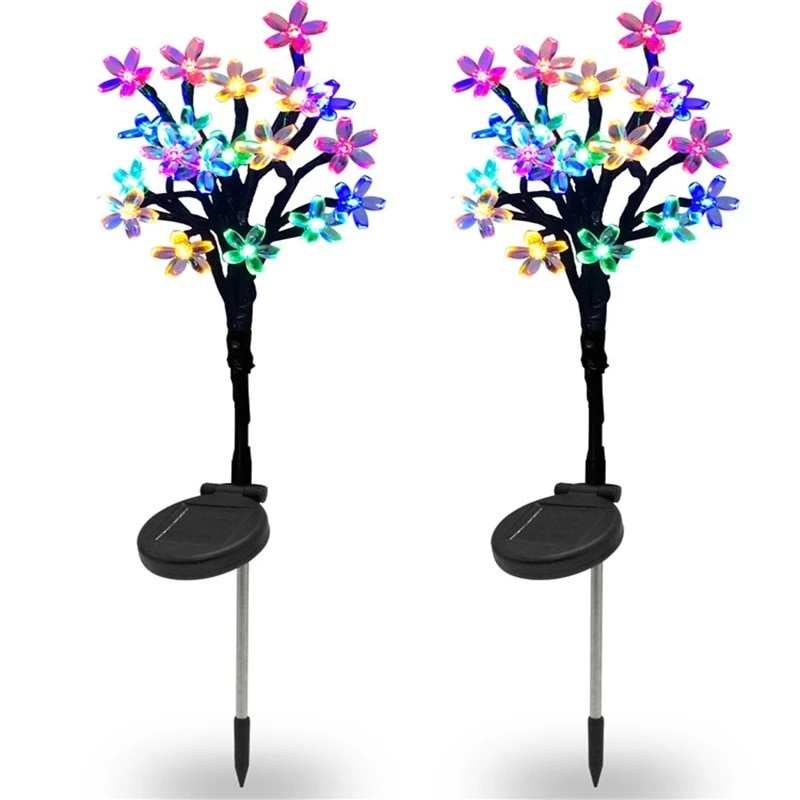 Рождественская светодиодная гирлянда на солнечной батарее, уличная светодиодная гирлянда с цветами, сказосветильник огни для сада, декор д...
