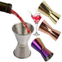 Tasse de mesure pour Cocktail en acier   Inoxydable, boisson à double Shot alcool de mesure, Gadgets de cuisine, outils de Bar 15/30ml