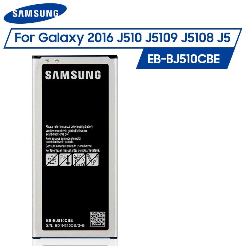 Original Samsung Battery EB-BJ510CBC EB-BJ510CBE for Samsung GALAXY 2016 Version SM-J510 J5109 J5108 J5 2016 SM-J510FN 3100mAh