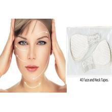 Juego de pegatinas faciales finas invisibles, línea Facial rápida, arrugas, para la piel flácidas, cinta de estiramiento Facial en forma de V, herramienta para adelgazar el mentón, 40 unids/set