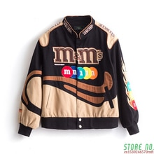 Embroidery Harajuku Patch Plus Size Coat 2020 Winter Warm Women's Jackets Hip Hop Autumn Long Sleeve