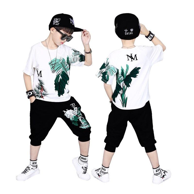Kinder Sport Anzüge Teenage Sommer Jungen Kleidung Set Kurzarm T Shirt & Hosen Casual 4 5 6 7 8 9 10 12 14 jahre jungen kleidung