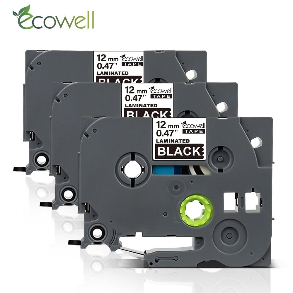 Ecowell TZE 335 tze-335 12MM cinta compatible para brother P-touch impresora PT-H110 PT-D400AD PT-H100 etiqueta fabricantes