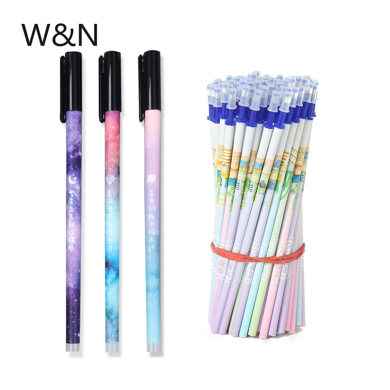 20 + 2 pçs/lote 0.5mm apagável caneta reenchimento conjunto azul/preto tinta mágica gel caneta para a escola escritório escrita suprimentos ferramenta kawaii papelaria