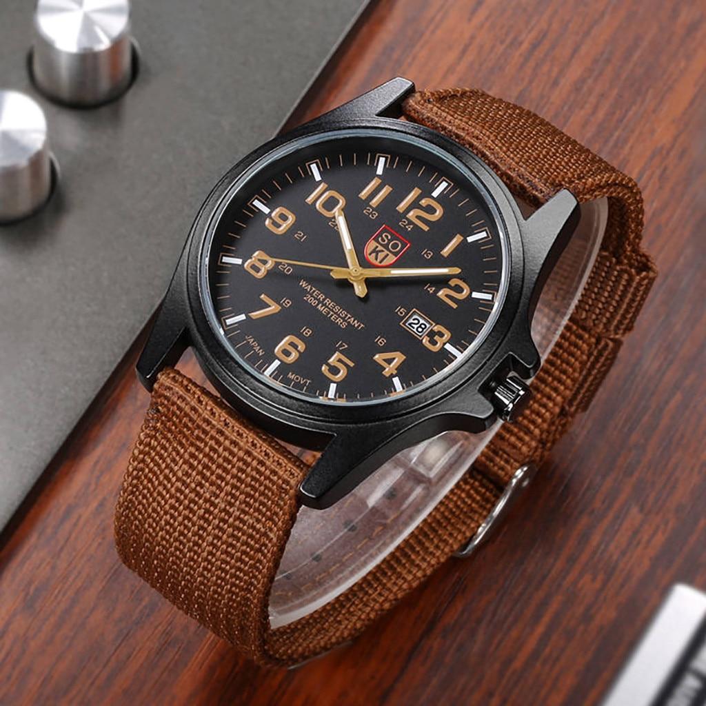 SOKI, relojes para hombres de marca superior, reloj de lujo para hombres, cinturón de nailon, calendario Masculino, reloj de cuarzo, relojes para hombre 2019